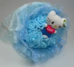 Букет с котятами и розами (1 шт, mix)