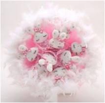 Букет с зайчатами (9 шт, розовый)